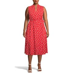 anne klein plus size charleston fit & flare midi dress