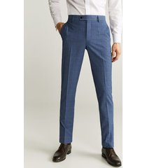 geruite slim-fit pantalon