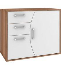 gabinete p/ banheiro sem cuba duna 80cm mb bosi marrom/branco - branco - dafiti