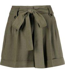 twinset tied-waist shorts - green