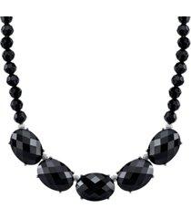 2028 silver-tone collar necklace