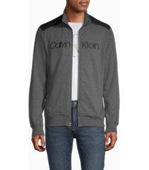 calvin klein men's iconic logo colorblock full zip sweatshirt