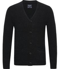 anf mens sweaters stickad tröja cardigan svart abercrombie & fitch