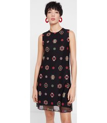 straight dress mandalas - black - 46