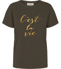 free quent 123140 t-shirt olive night