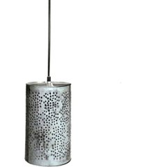 "villa2 celestial ""jaali"" shade pendant in brushed retro zinc 25 watt"