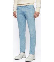 boss men's light-blue slim-fit jeans