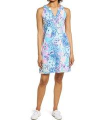 women's lilly pulitzer ross print shift dress, size xx-large - blue