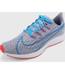 tenis running morado-blanco-azul nike air pegasus zoom 36
