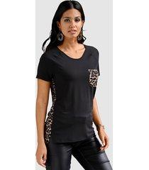 shirt amy vermont zwart::bruin