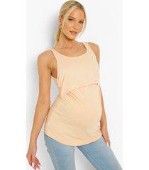 zwangerschap borstvoeding hemdje, peach
