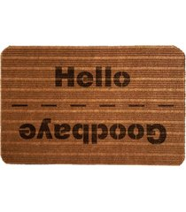 capacho carpet goobaye/hello marrom único love decor