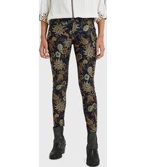 pantalón desigual multicolor - calce ajustado