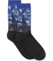 hot sox women's starry night fashion crew socks