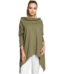 sweater style s103 kokerrok met split vooraan - zwart