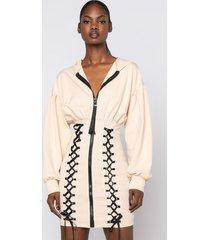 akira all the feels long sleeve mini dress with zipper