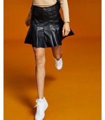 and now this women's faux-leather pleated skirt