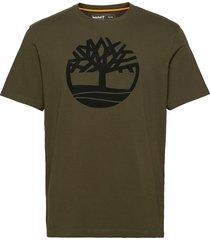 k-r brand linear t t-shirts short-sleeved grön timberland