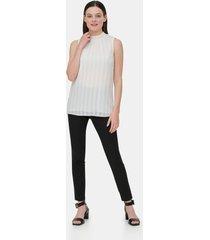 blusa texture stripe blanco calvin klein