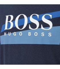 hugo boss heren logo sweatshirt - blauw