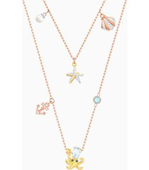 collana ocean, multicolore, placcatura mista