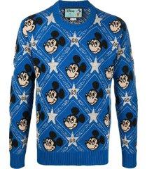 maglione jacquard con topolino x disney