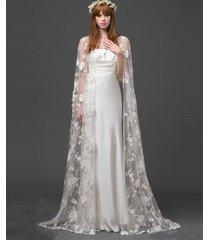 white/ivory lace shawl bolero wedding jacket bridal wrap shrug capes custom size