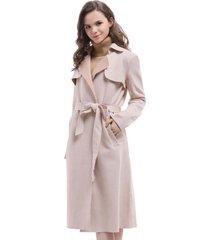 abrigo tipo gamuza cinta rosa nicopoly