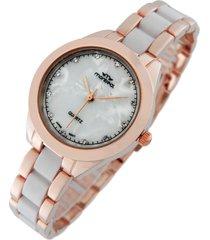 reloj  rosa  montreal pulsera combinado