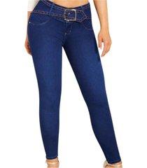 jeans colombiano  control de abdomen azul new rodivan