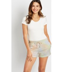 maurices womens tie dye french terry shorts
