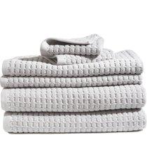 dkny 6-piece bath towel, hand towel & washcloth set in grey at nordstrom