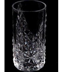 conjunto de jarra e copo de cristal lodz - transparente