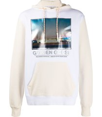 golden goose photo print hoodie - white