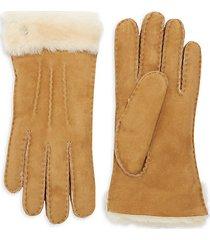 shearling-cuff sheepskin gloves