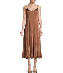 v-neck slip dress
