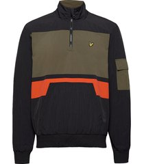 1/4 zip track jacket outerwear jackets anoraks zwart lyle & scott