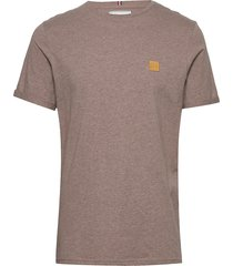 piece t-shirt t-shirts short-sleeved brun les deux