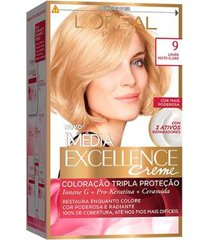 coloração imédia excellence l'oréal paris 9 louro muito claro