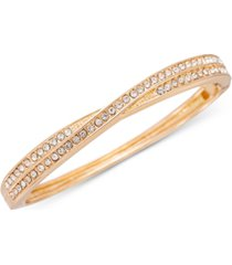 charter club gold-tone pave crisscross bangle bracelet, created for macy's