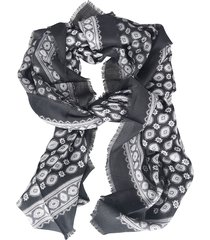 saint laurent printed scarf