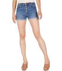 numero cuffed high-rise denim shorts