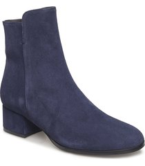 booties 95500 shoes boots ankle boots ankle boot - heel blå carla f