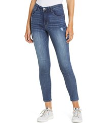 women's wit & wisdom ab-solution luxe touch high waist ankle skinny jeans, size 10 - blue (nordstrom exclusive) (regular & petite)