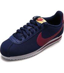 tenis azul-violeta nike classic cortez leather