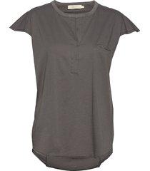blanka t-shirts & tops short-sleeved grå rabens sal r