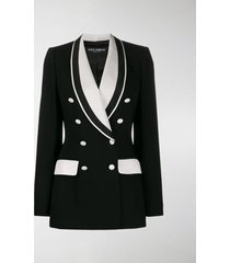 dolce & gabbana double breasted two tone blazer