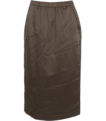 aspesi cotton pencil skirt elastic waist