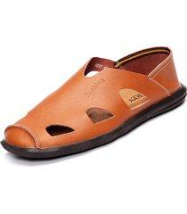 scarpe basse casual in pelle da uomo traspiranti soft