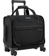 briggs & riley 16-inch spinner cabin carry-on - black